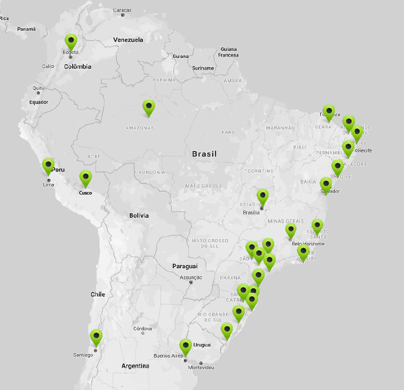 Mapa de atuação - RDM Industrial
